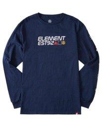0 Hiro Long Sleeve T-Shirt Blue ALYZT00367 Element