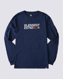 0 Hiro Long Sleeve T-Shirt Blue ALYZT00367 Element