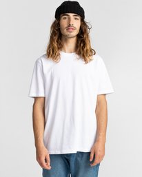 2 Basic Crew Short Sleeve T-Shirt White ALYZT00371 Element
