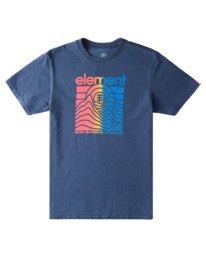 0 Sego Pigment Short Sleeve T-Shirt Blue ALYZT00381 Element