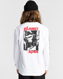 6 Planet of the Apes Surge Long Sleeve T-Shirt White ALYZT00387 Element