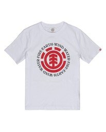 0 Boys' Seal T-Shirt White B400TESE Element