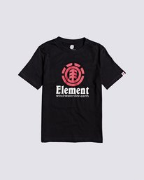 0 Boys' Vertical T-Shirt Blue B401TEVE Element