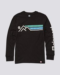 0 Sierra Boys Long Sleeve Tee Blue B475UESI Element