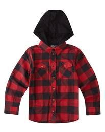 0 Boys' Tacoma 2C Hooded Flannel Red B5553ETH Element