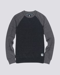 0 Boy's Meridian Block Crew Neck Fleece Black B632QEMC Element