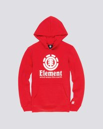 0 Boy's Vertical Pullover Hoodie Red B644TEVH Element