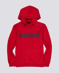 0 Boys' Reverse Hoodie Red B6671ERH Element