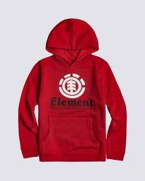 0 Boys' Vertical Hoodie Red B6793EVE Element