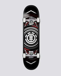 0 Hatched Red Silver Skateboard Complete  COLG2HTR Element