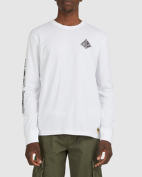 1 Acceptance Long Sleeve Tee White G512051 Element