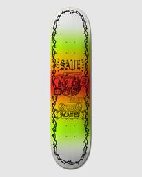 """0 PLANET SAVE 8.5"""" SKATEBOARD DECK Multicolor G512960 Element"""