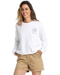 0 Nat Geo Long Sleeve T-Shirt White J4011ENA Element