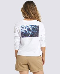 0 Nat Geo Long Sleeve T-Shirt White J4011ENA Element