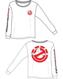 3 Women's Ghostbusters Long Sleeve T-Shirt White J4013EGB Element