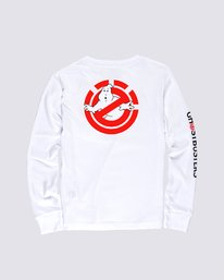 1 Women's Ghostbusters Long Sleeve T-Shirt White J4013EGB Element