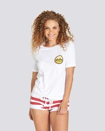 0 One Love Girl T-Shirt White J467TETR Element