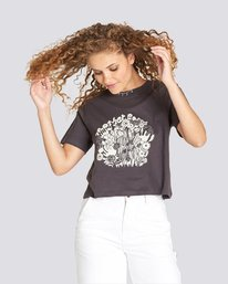 0 Mother Earth Crop Tee Black J489UEMO Element