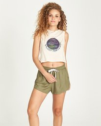 0 Starry Crop Tank White J491UEST Element