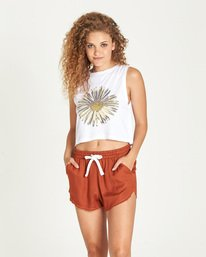 0 Sunflower Crop Tank White J491UESU Element