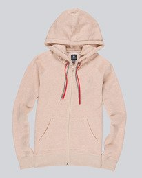 0 Lette Zip Up Hoodie Pink J627QELZ Element