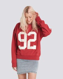0 Season Star Crew Neck Sweatshirt Red J657SESE Element