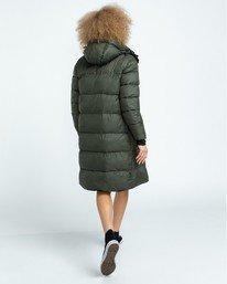 0 Wolfeboro Dulcey Long Puffer Jacket Green J7243EDL Element