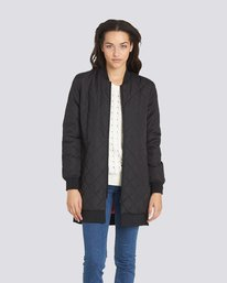 0 Sharpen Longline Bomber Jacket  J791QESH Element