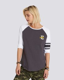 0 Attitude 3/4 Sleeve Raglan Black J948NEAT Element