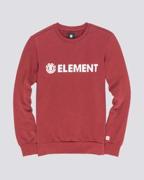 0 Blazin - Felpa da Uomo Red L1CRA9ELF8 Element