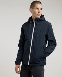 0 Alder - Hooded Jacket Blue L1JKB5ELF8 Element