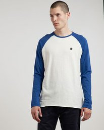 0 Blunt - Long Sleeve T-Shirt for Men White L1LSA8ELF8 Element