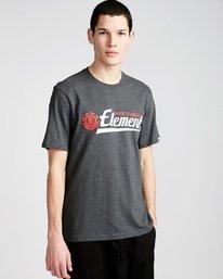 0 Signature Ss - Tee Shirt for Men Grey L1SSA8ELF8 Element