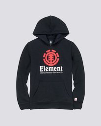 0 Vertical Boy - Hoodie Black L2HOA2ELF8 Element
