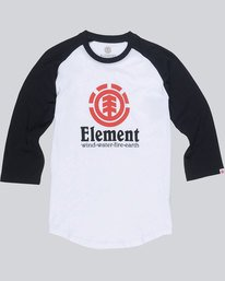 0 Vertical Raglan Boy - Tee Shirt for Boys White L2LSA1ELF8 Element