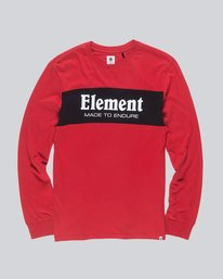 0 Primary Ls Boy Tee - Tee Shirt for Boys Red L2LSB2ELMU Element