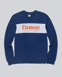 0 Primary Ls Boy Tee - Tee Shirt for Boys Blue L2LSB2ELMU Element