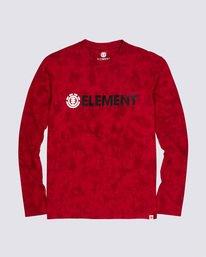 0 Blazer Long Sleeve T-Shirt Red M4511EBL Element