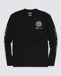 0 Nat Geo Earth Long Sleeve T-Shirt Blue M4851EEA Element