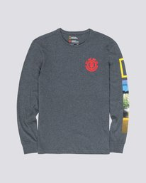 0 Stockade Long Sleeve Tee Grey M485WEST Element