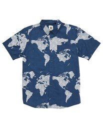 0 James Short Sleeve Shirt Blue M504QEJW Element