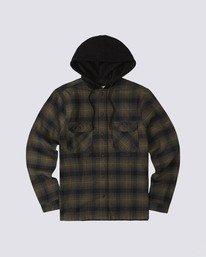 0 Wentworth Hooded Flannel Shirt Beige M554VEWB Element