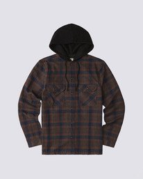 0 Wentworth Hooded Flannel Shirt Blue M554VEWB Element