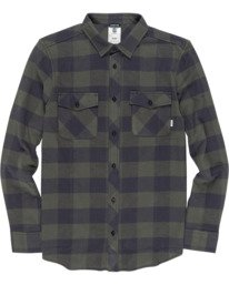 0 Tacoma Long Sleeve Flannel Shirt Beige M5583ETA Element
