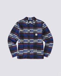 0 Americana Long Sleeve Flannel Blue M5623EAM Element