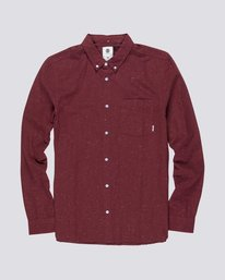 0 Greene Neps Long Sleeve Shirt Red M574QEGN Element