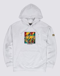 0 Bad Brains Brainstorm Embroidered Hoodie White M6181EBF Element