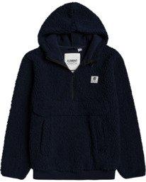 0 Faroe Qtr-Zip Fleece Pullover Blue M6483EFA Element