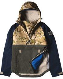 3 Vertically Basic Po Jacket Green M731VEGF Element