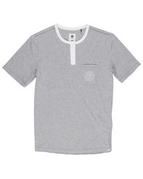 0 Vidock Short Sleeve Henley Tee Grey M924SEVD Element